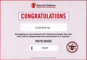 Children In Need 2017 £136 rasied